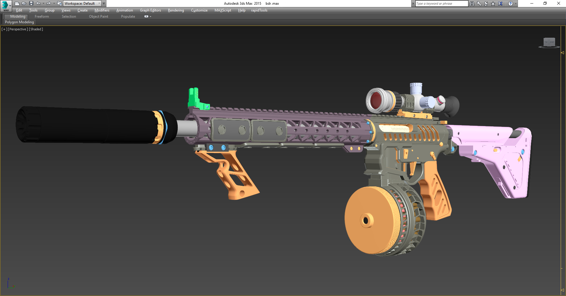Creating Amazing 3D Weapons | CGI News Luxxlabs