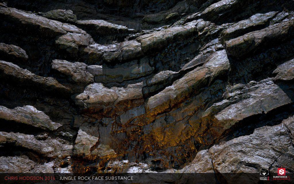 Natural Rock Faces : Building natural material in substance designer