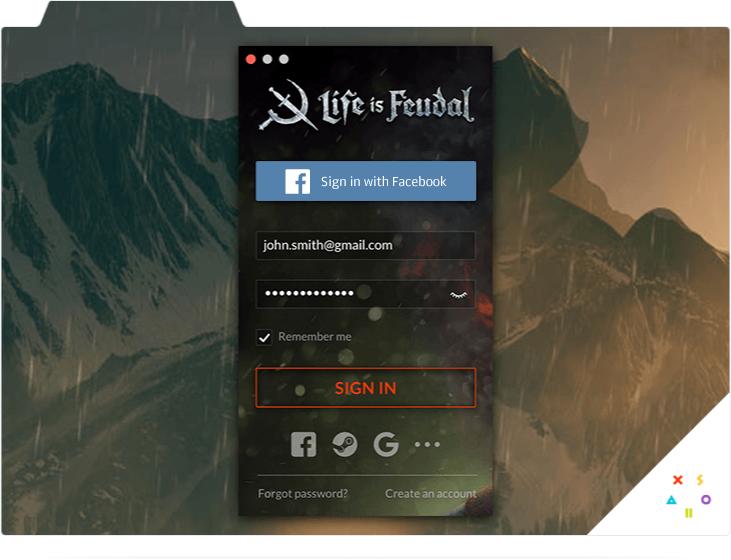 Xsolla Launcher. Screen 2