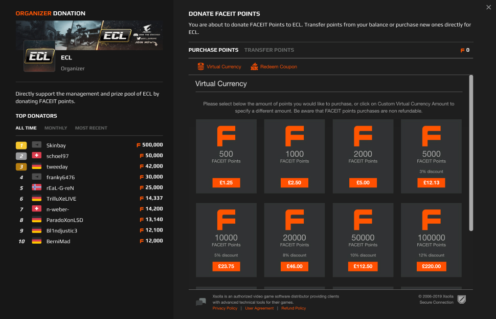 FACEIT success story | Xsolla